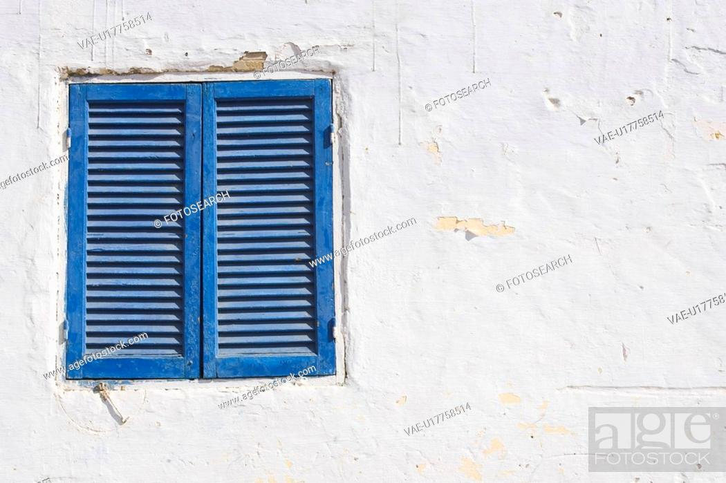 Stock Photo: Blue, Building Exterior, Building Structure, Closed, Close-Up.