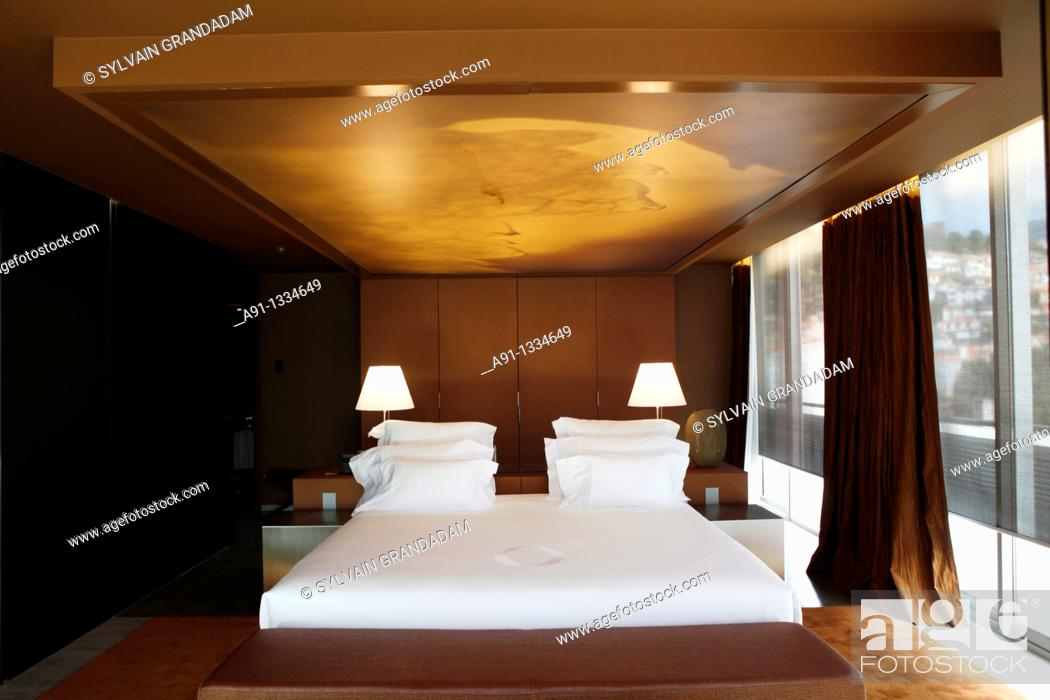 Stock Photo: Portugal, Madeira, Funchal, Hotel design The Vine, architect Ricardo Boffil from Spainl, designer Nini Andrade from New York and Madeira, opened in 2010.