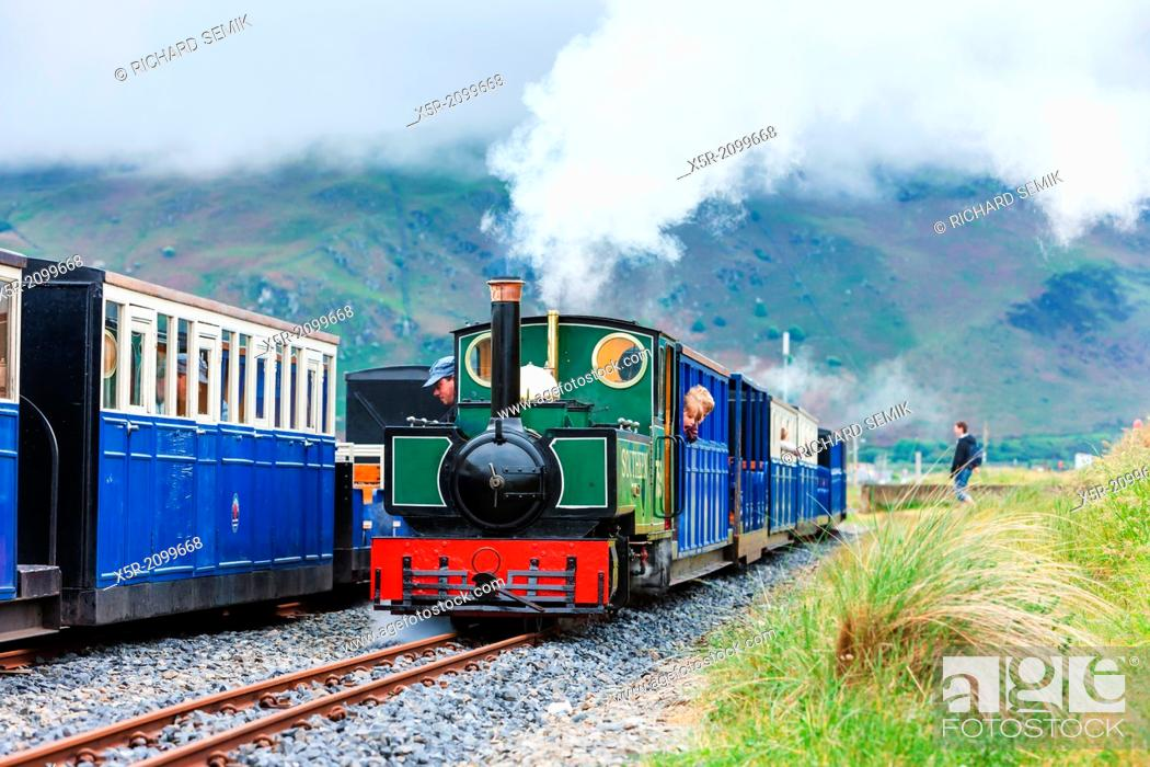 Imagen: steam trains, Fairbourne narrow gauge railway, Wales.