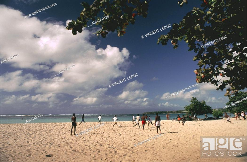 Stock Photo: French Caribbean - Caribbean Islands - Guadeloupe - Grande Terre - St Anne.