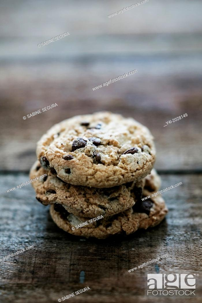 Stock Photo: Cookies. Chocolate Chips.