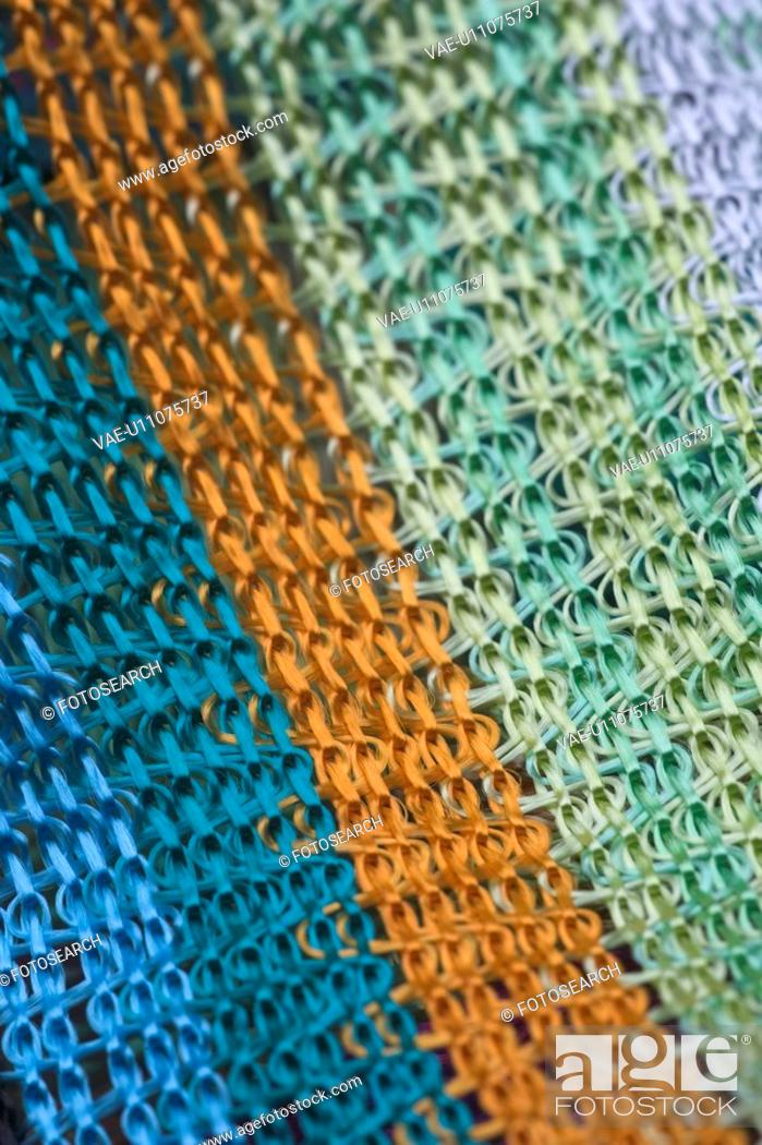 Stock Photo: Close-Up, Design, Fabric, Fiber, Full Frame.