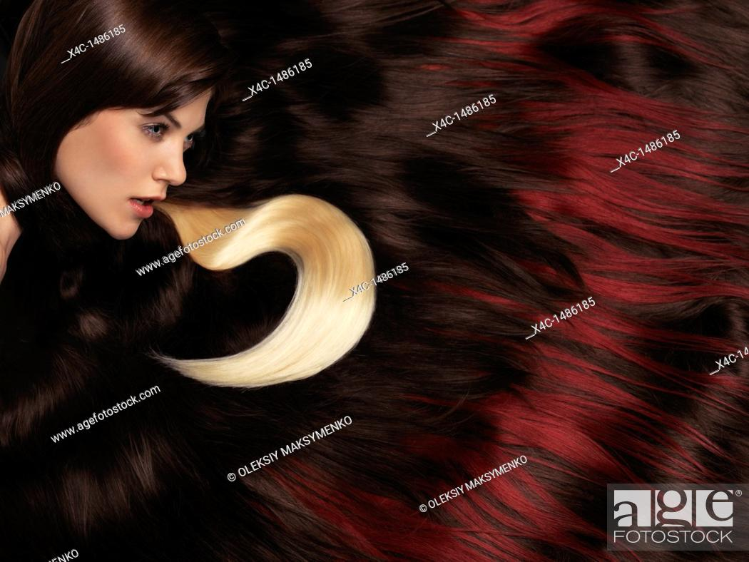 Artistic Photo Of A Beautiful Woman With Long Brown Hair And