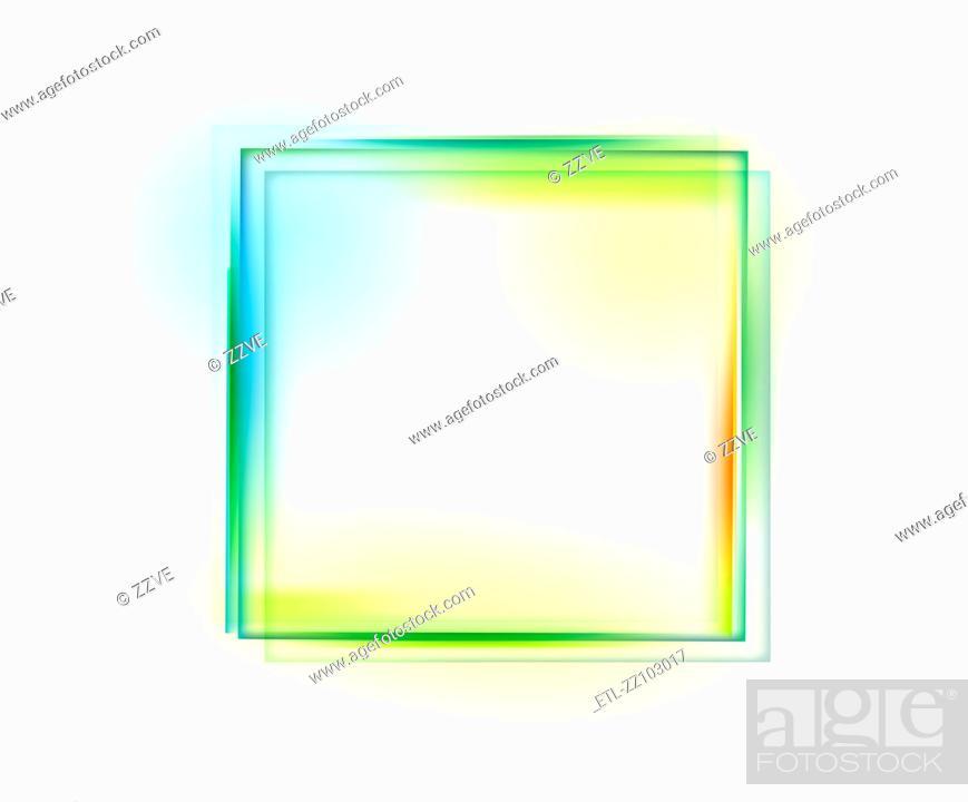 Stock Photo: Square shape on white background.