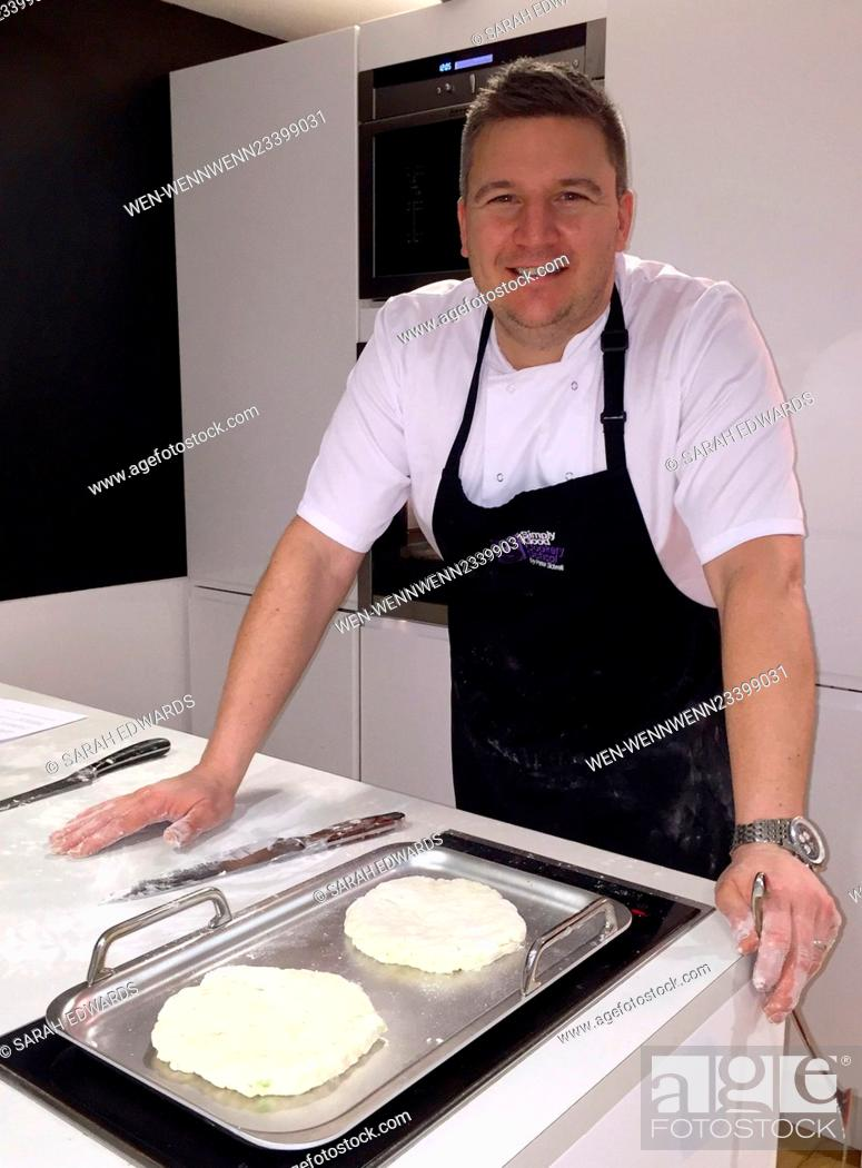 Stock Photo: TV Chef Peter Sidwell launches his Simply Good Food TV app. Best known for the Channel 4 series 'Lakes On A Plate' and judge of 'Britain's Best Bakery'.