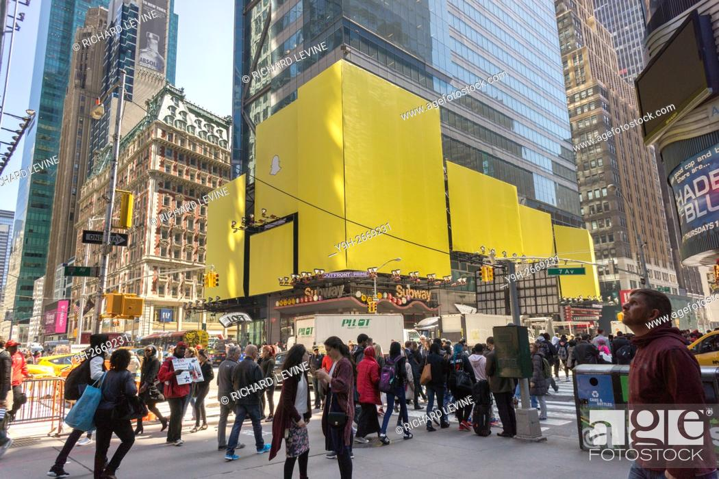 A billboard in Times Square in New York advertises the