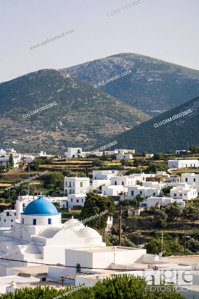 Stock Photo: Monastery the Panagiatis Poulatis, Sifnos, Kastro, Islands of Ciclades, Greece, Western Europe.