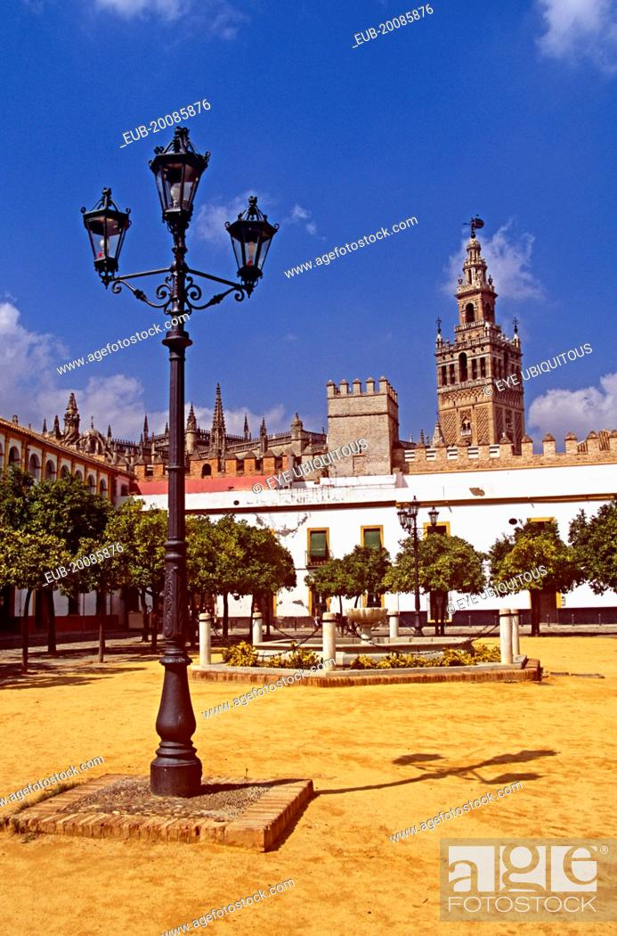 Stock Photo: Cathedral and Patio de Banderas.