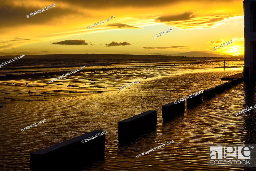 Stock Photo: A flood sight in Playa Lisa beach, Alicante coast, Spain.