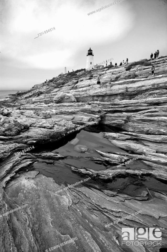 Stock Photo: Pemaquid Point , coastal Maine USA.