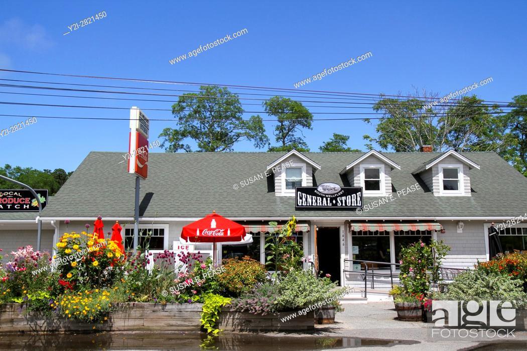 Stock Photo: South Wellfleet General Store, Wellfleet, Cape Cod, Massachusetts, United States, North America.