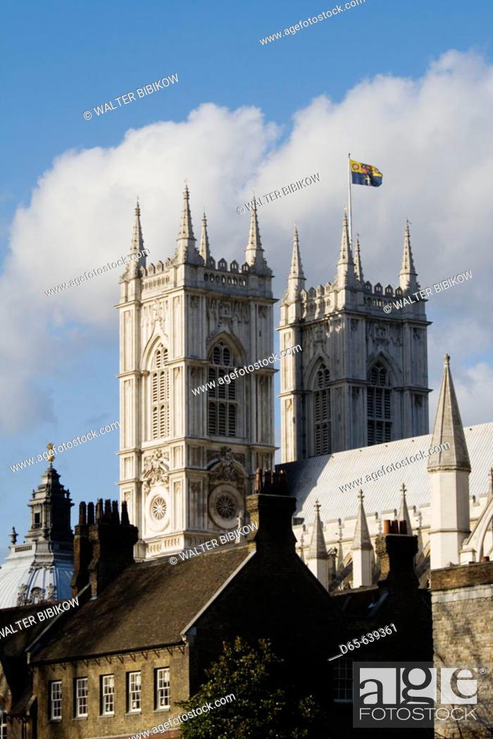 Stock Photo: Westminster Abbey / Exterior. London. England. UK.