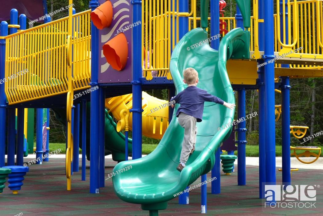 Stock Photo: Playing in a play ground.