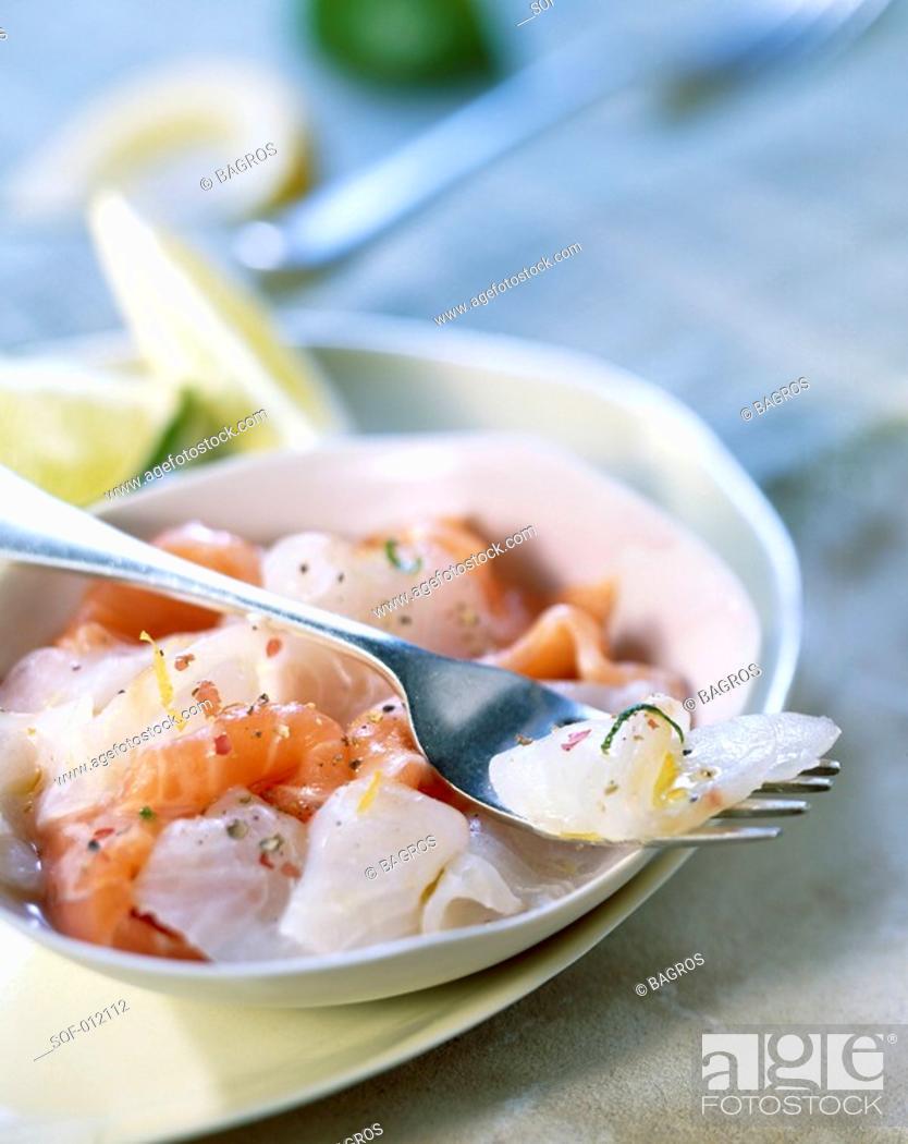 Stock Photo: two fish marinated carpaccio.