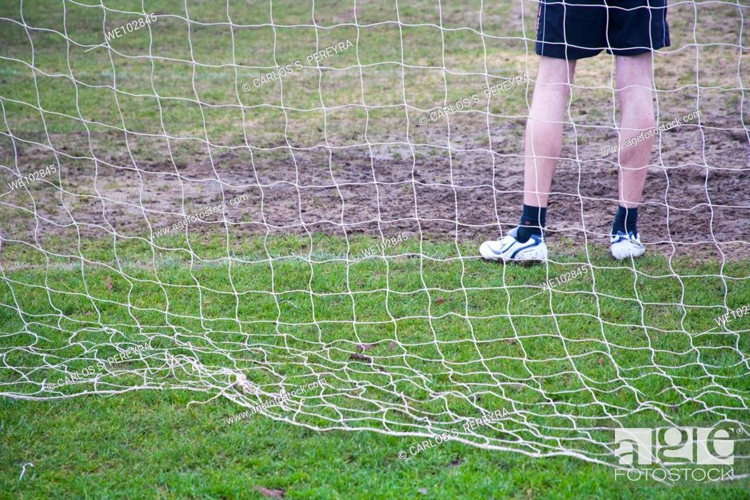 Stock Photo: Goalkeeper in Regent's Park at London, United Kingdom, Great Britain, Europe.