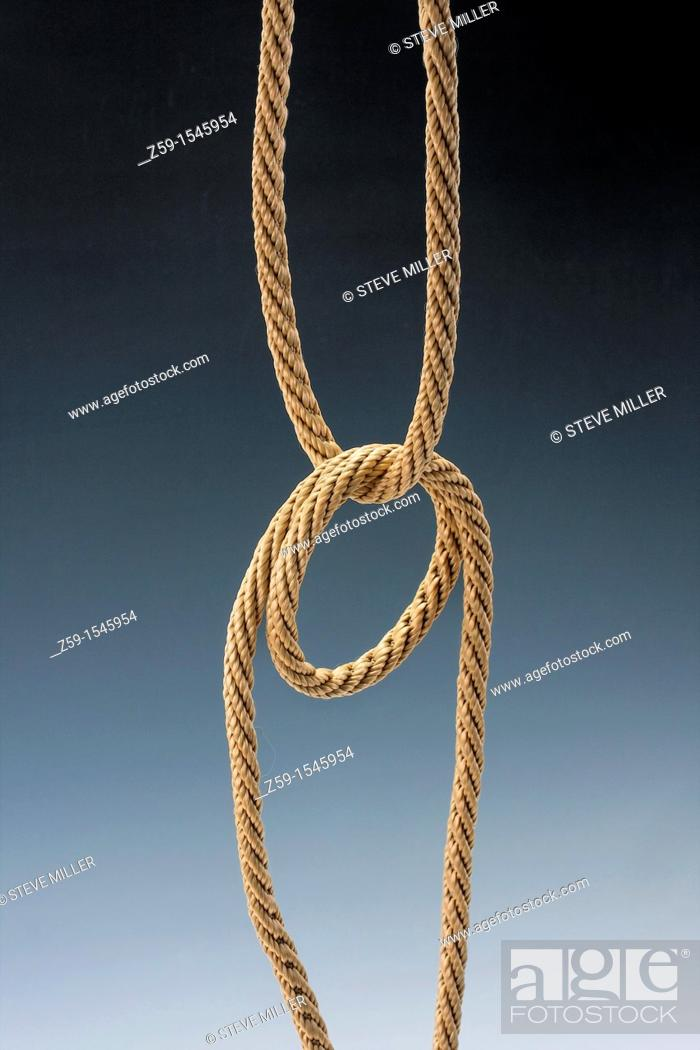 Stock Photo: natural colored rope knots.