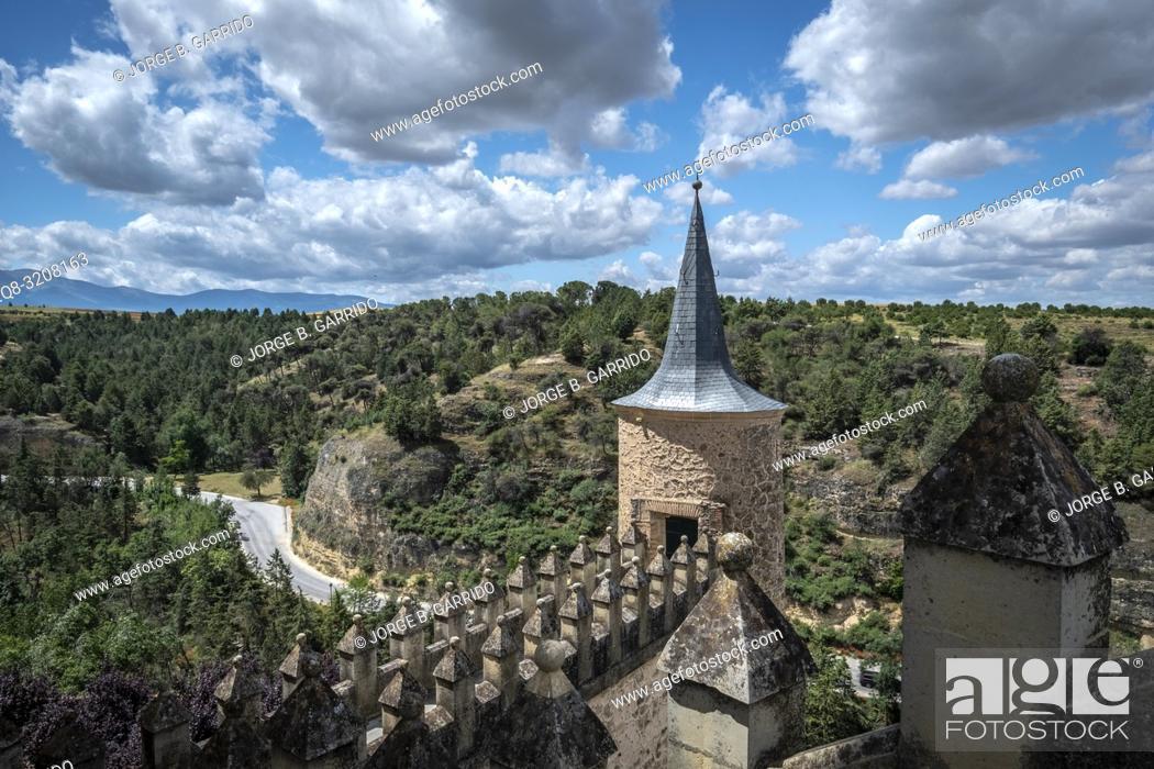 Stock Photo: The Alcazar Castle In Segovia, Spain.
