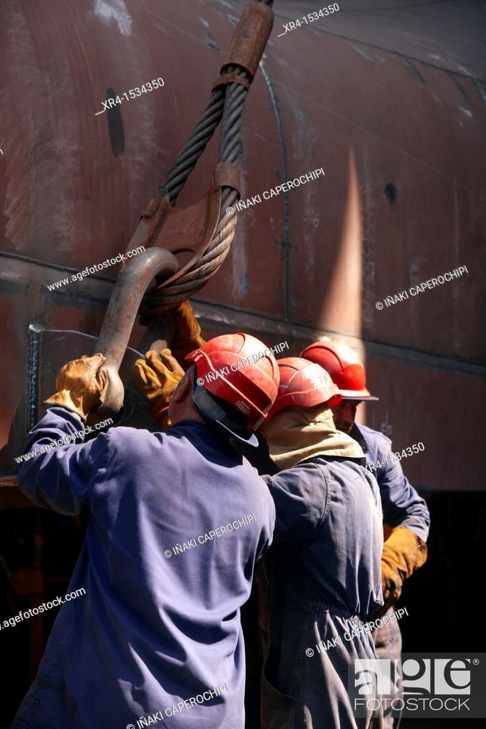 Stock Photo: Balenciaga shipyards, Zumaia, Zumaya, Gipuzkoa, Guipuzcoa, Basque Country, Spain.