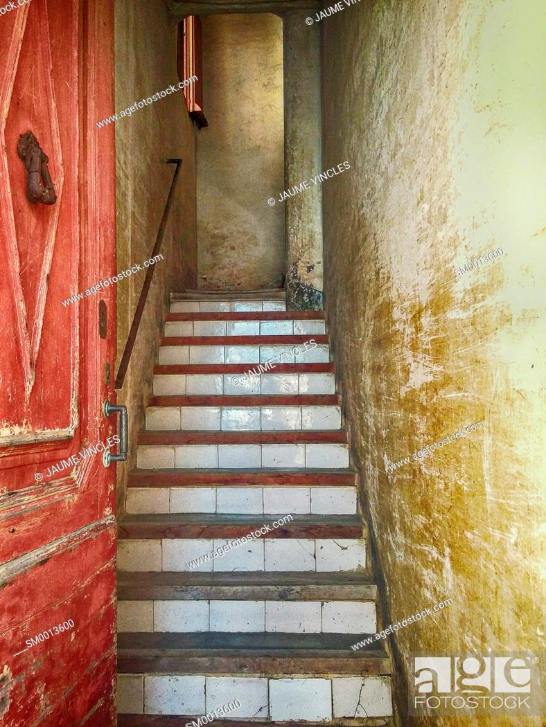 Stock Photo: Stairs. Caldes d'Estrac, Maresme, Barcelona province, Catalonia, Spain.