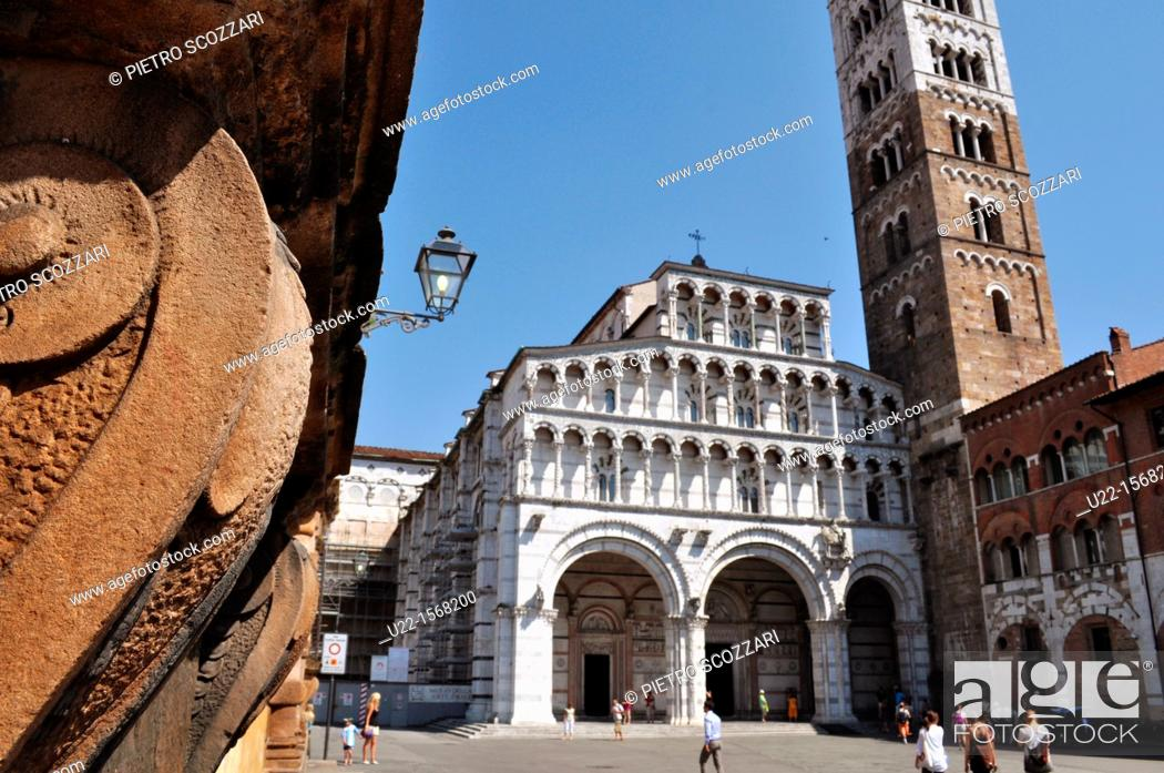 Stock Photo: Lucca (Italy): the Cathedral of San Martino.