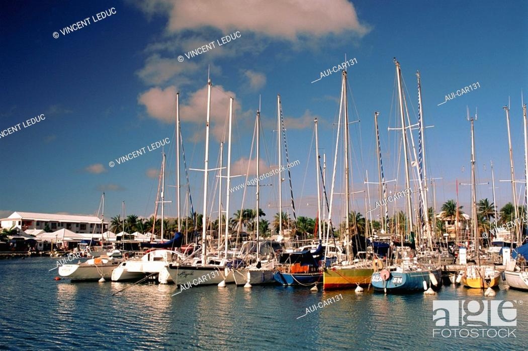 Stock Photo: French Caribbean - Caribbean Islands - Guadeloupe - Grande terre - St Francois marina.