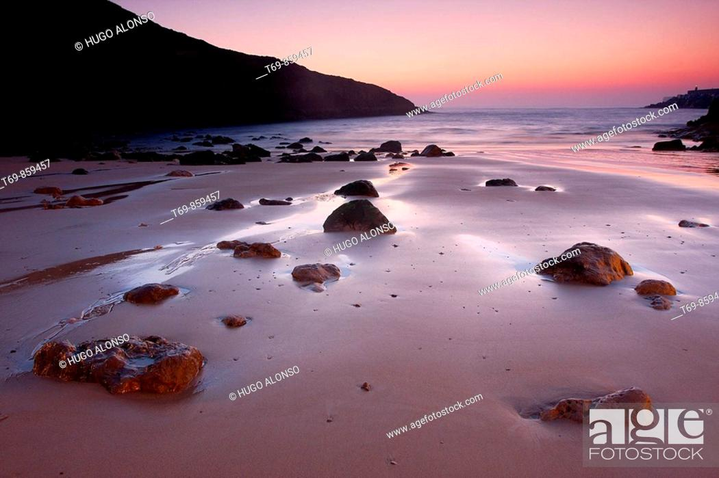 Stock Photo: Beach in the north of Spain (Llanes - Asturias).