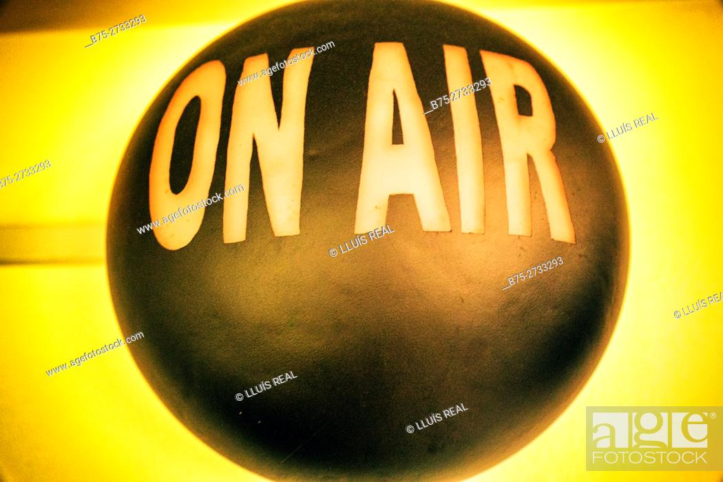 "Stock Photo: ""On air"" sign."