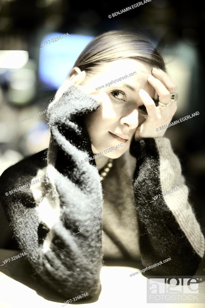 Stock Photo: woman, in Munich, Germany.