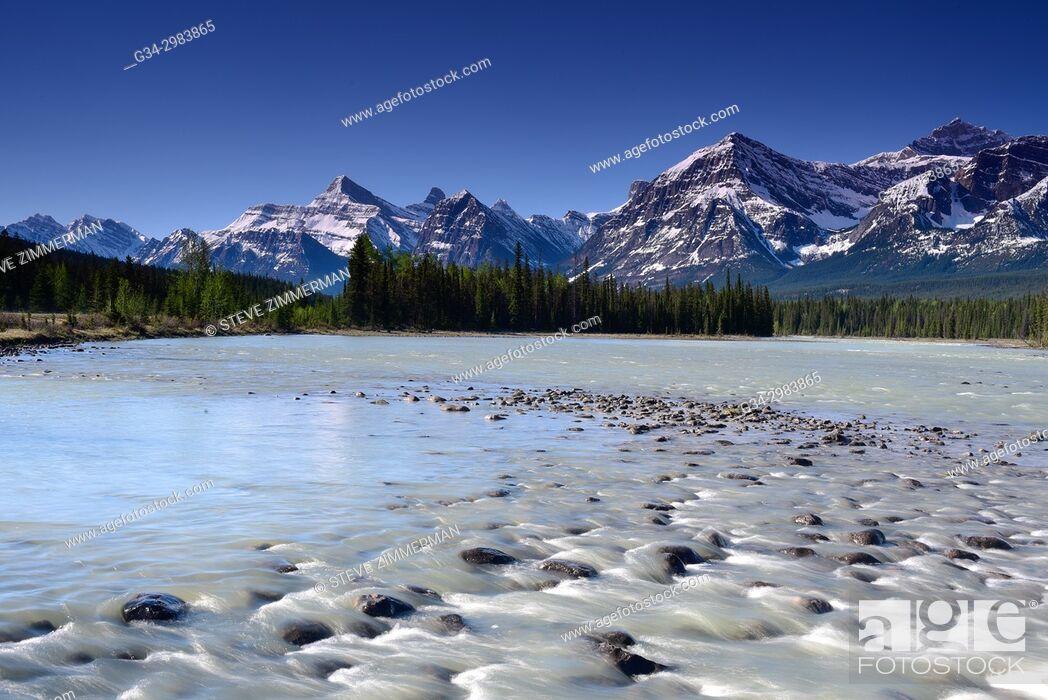 Stock Photo: Canadian Morning, Canadian Rockies, Alberta, Canada.