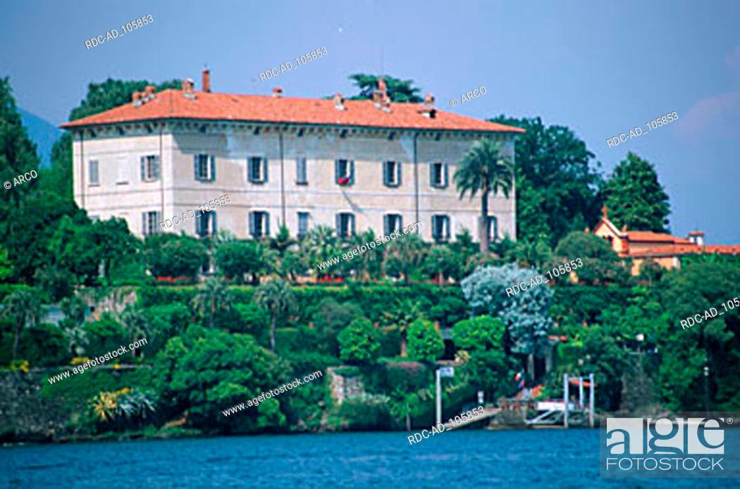 Stock Photo: House on island Isola Madre Lago Maggiore Piemont Italy.