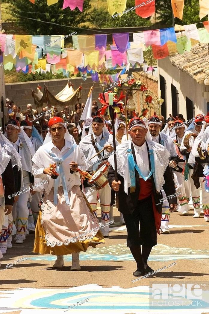 Stock Photo: Fiesta de los Pecados y Danzantes (festival of sins and dancers), Camuñas, Toledo province, Spain.