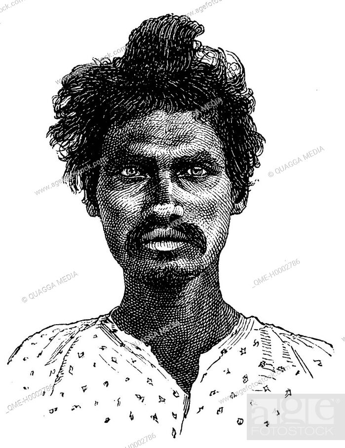 Stock Photo: Portrait of a Coolies from Madras.