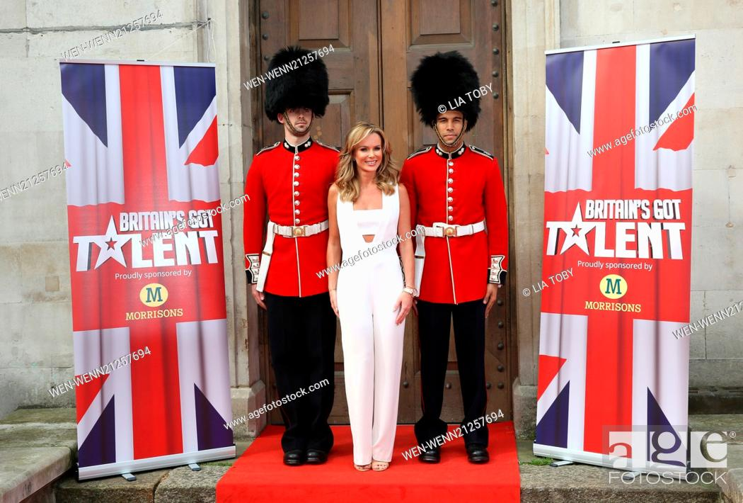 Stock Photo: Britain's Got Talent - press launch held at St Luke's Church - Arrivals Featuring: Amanda Holden Where: London, United Kingdom When: 09 Apr 2014 Credit: Lia.