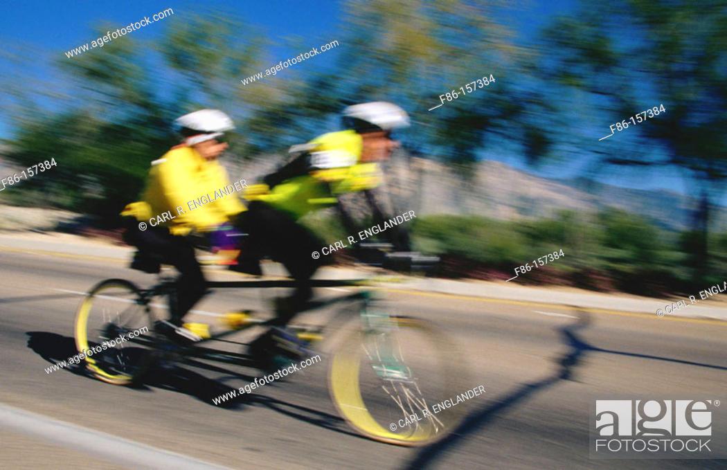 Stock Photo: Tandem bicycle.