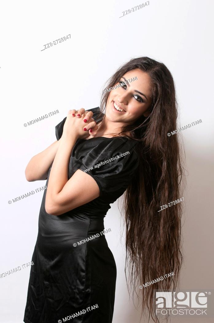 Stock Photo: Beautiful woman with long hair.