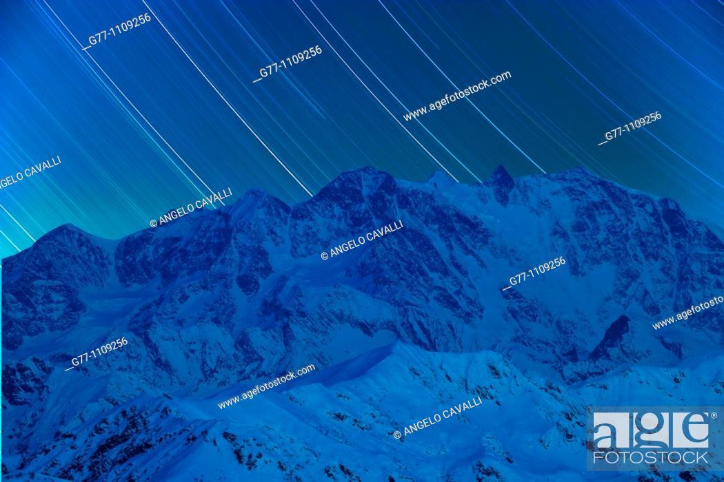 Stock Photo: Monte Rosa, Alps, Italy.