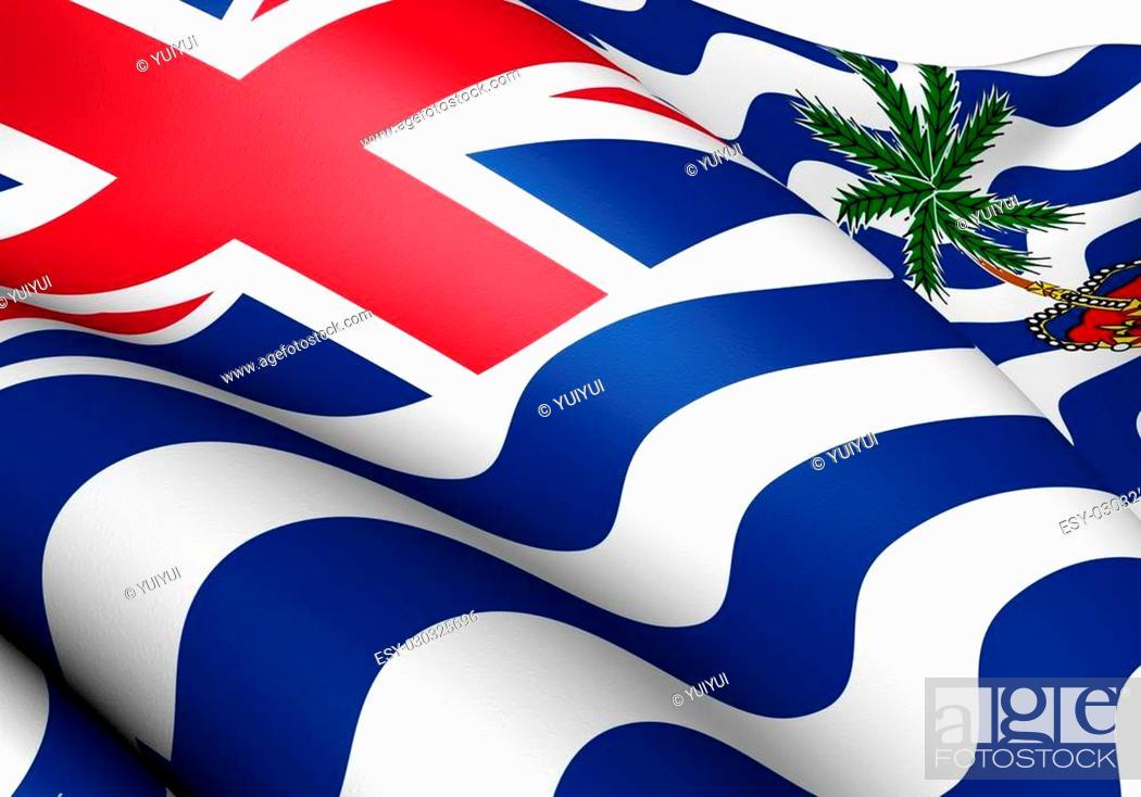 Stock Photo: Flag of British Indian Ocean Territory. Close Up.