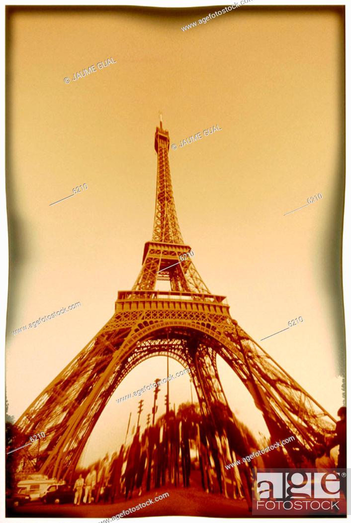 Stock Photo: Eiffel Tower. Paris. France.