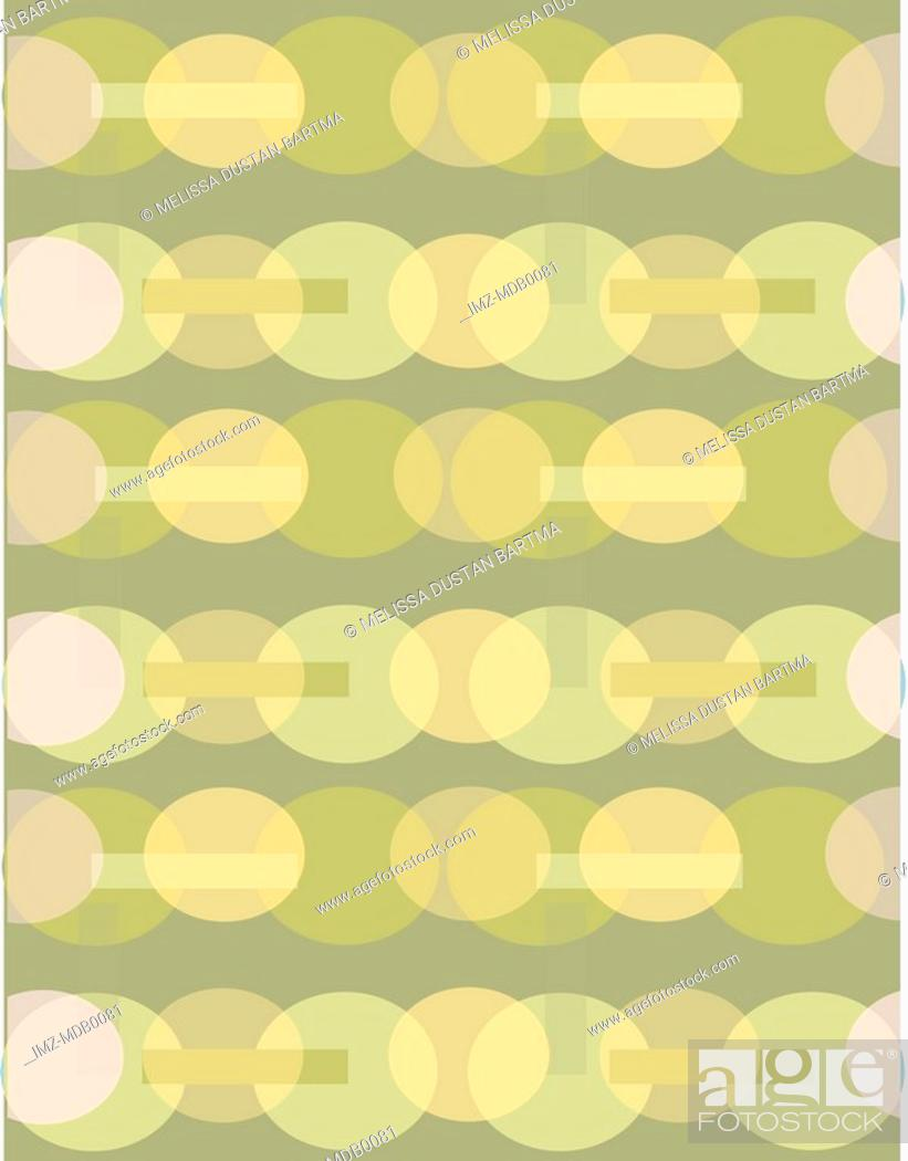 Stock Photo: A green and olive retro oval pattern.