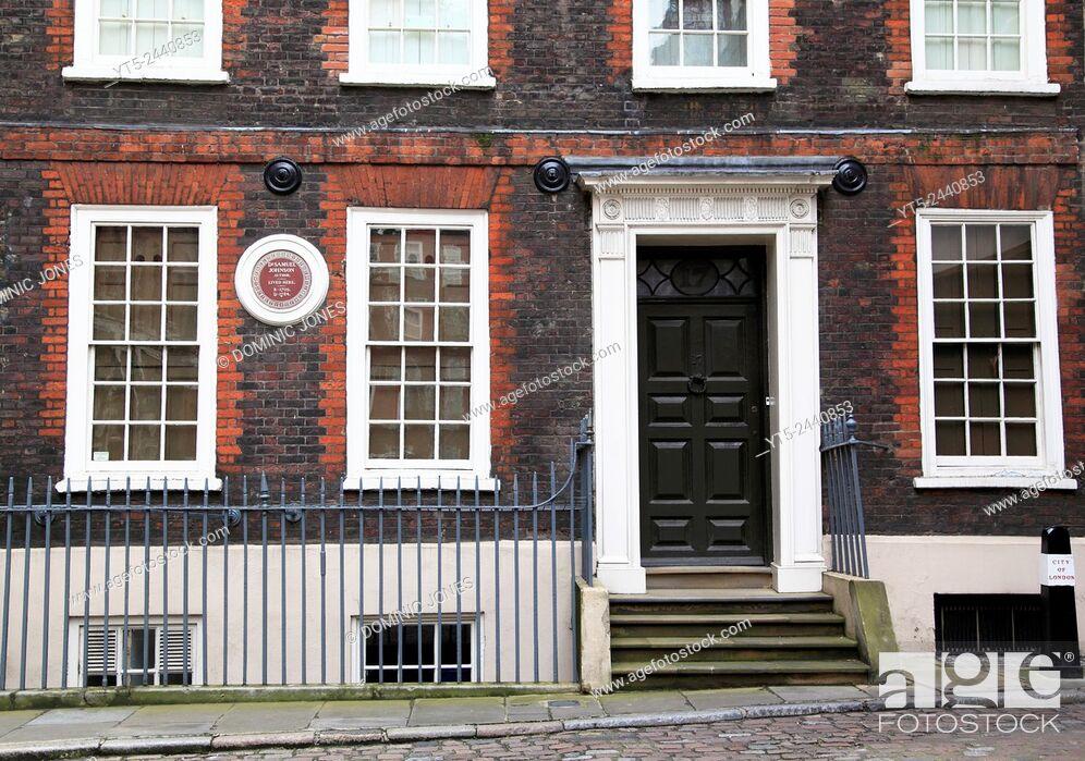 Stock Photo: The home of Dr. Samuel Johnson, London, England, Europe.