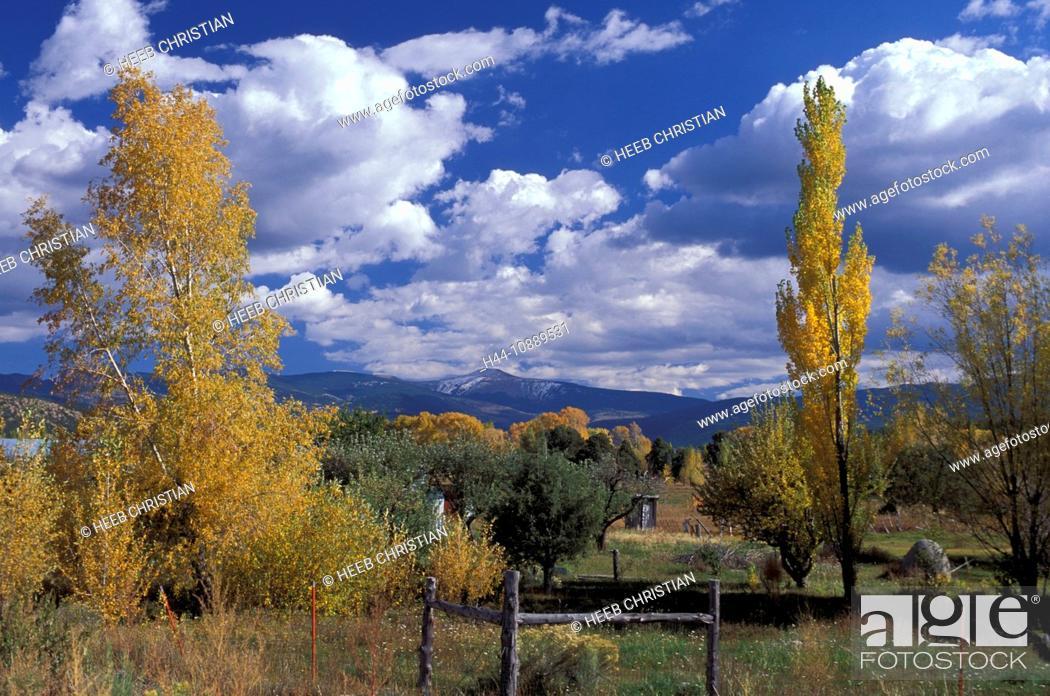 Stock Photo: Taos High Road, near Penasco, Indian Summer, Fall Colors, New Mexico, USA, United States, America, trees.