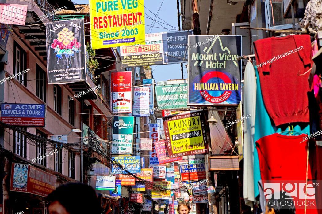 Stock Photo: Thammel, Kathmandu, Nepal, Asia.