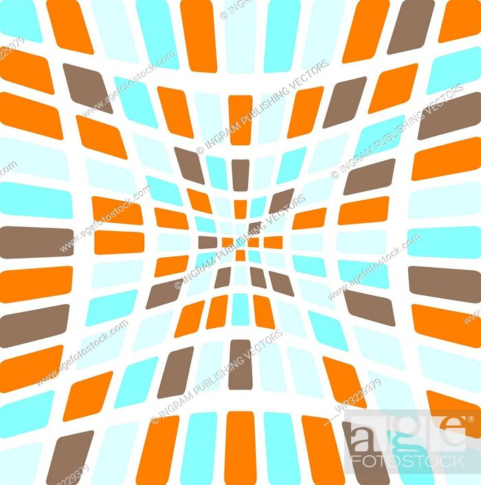 Vector: Illustration of an abstract seamless tile design in various colours.