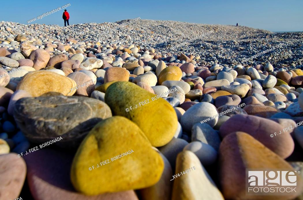 Stock Photo: Xilches beach  Castellon, Valencia, Spain.