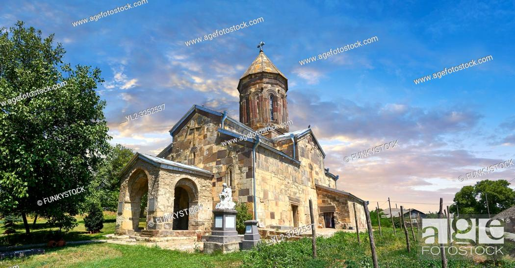 Stock Photo: Picture & image of the Cathedral Of Transfiguration, Medieval Georgian Orthodox, 7-9th century, Ruisi, Georgia.