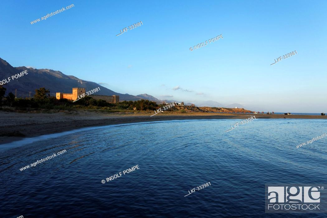 Stock Photo: Venetian Castle of St. Nikitas, Frangokastello, Chania Prefecture, Crete, Greece.