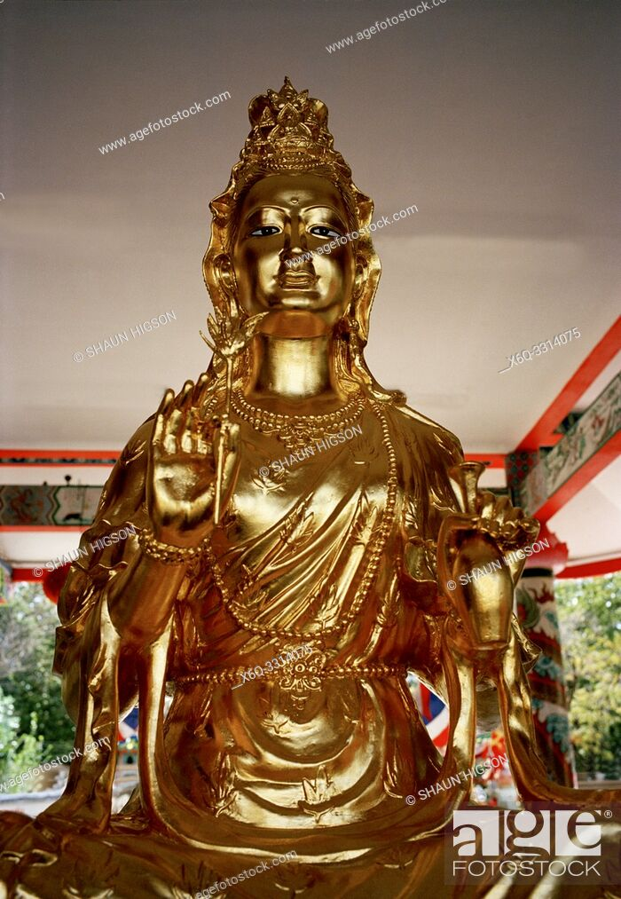 Imagen: Gong Wu statue at the Chinese Gong Wu Shrine in Bangkok in Thailand in Southeast Asia Far East.