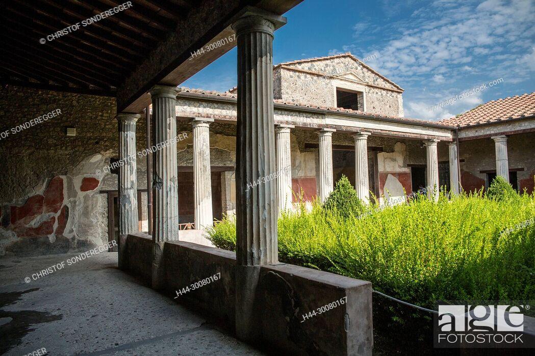 Imagen: Stadt Pompei, die 79 n. Chr. unter der Asche des Vulkans Vesuv begraben wurde.