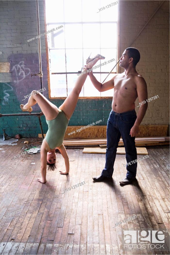 Stock Photo: Dancers posing.