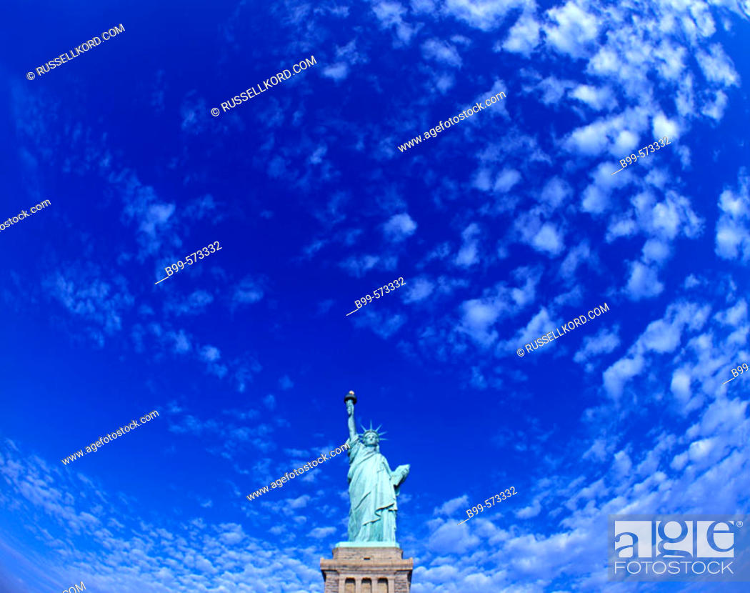 Stock Photo: Statue Of Liberty, New York Harbor, New York, USA.